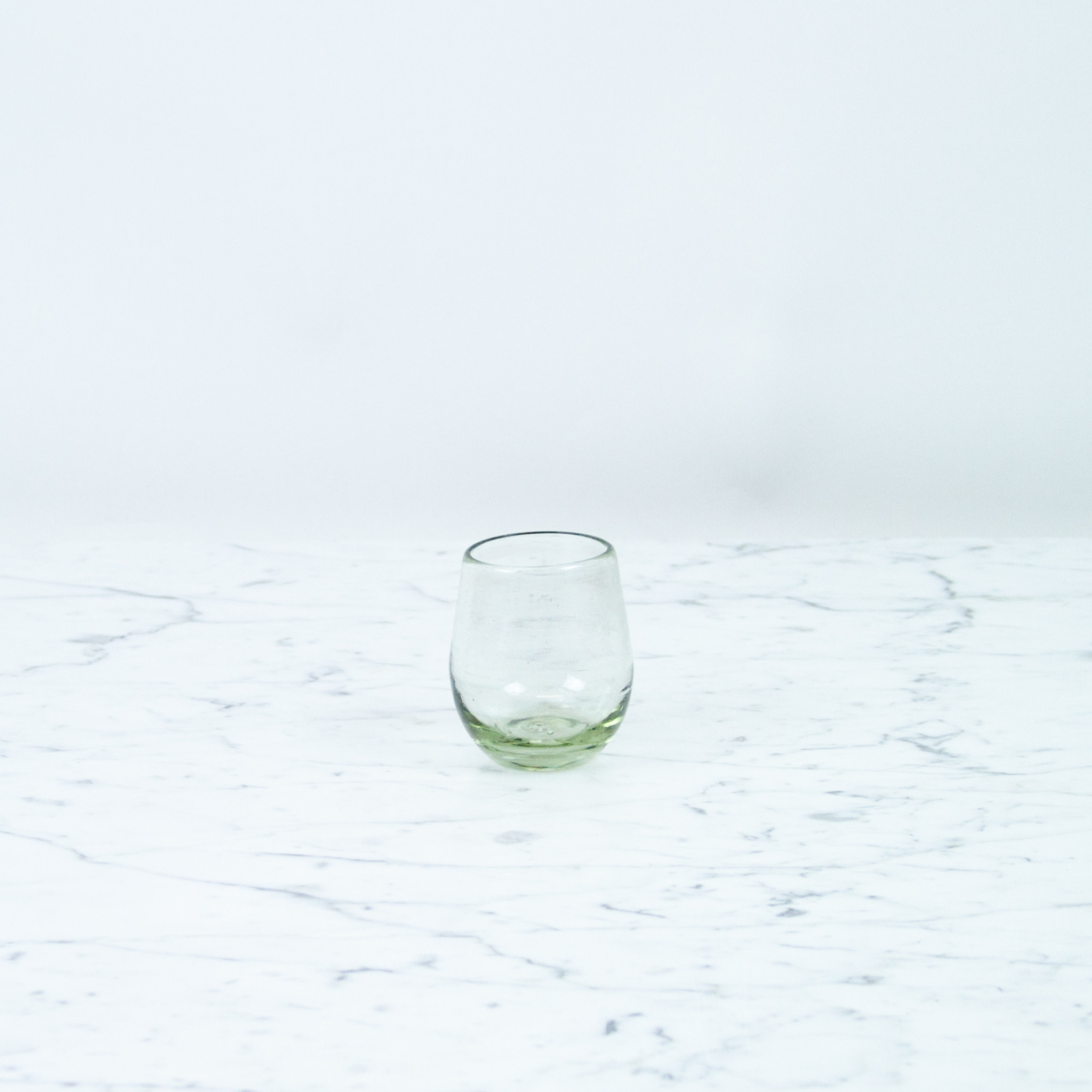 Mexican Recycled Oval Cocktail Glass - Clear