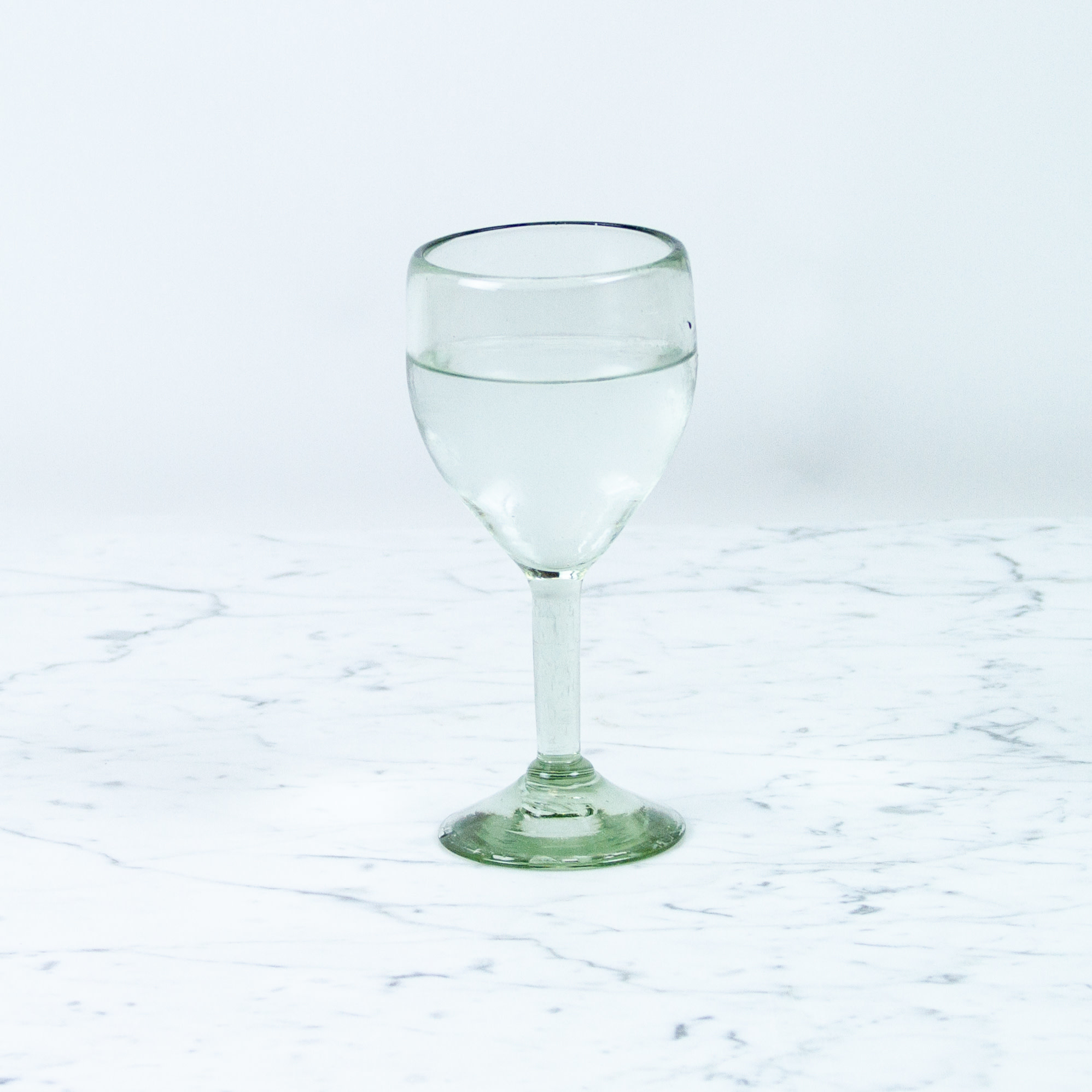 Mexican Recycled Stemmed Wine Glass