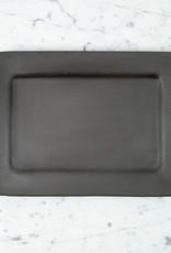 "Portuguese Barro Negro Rectangular Serving Platter - 9"" x 13"""