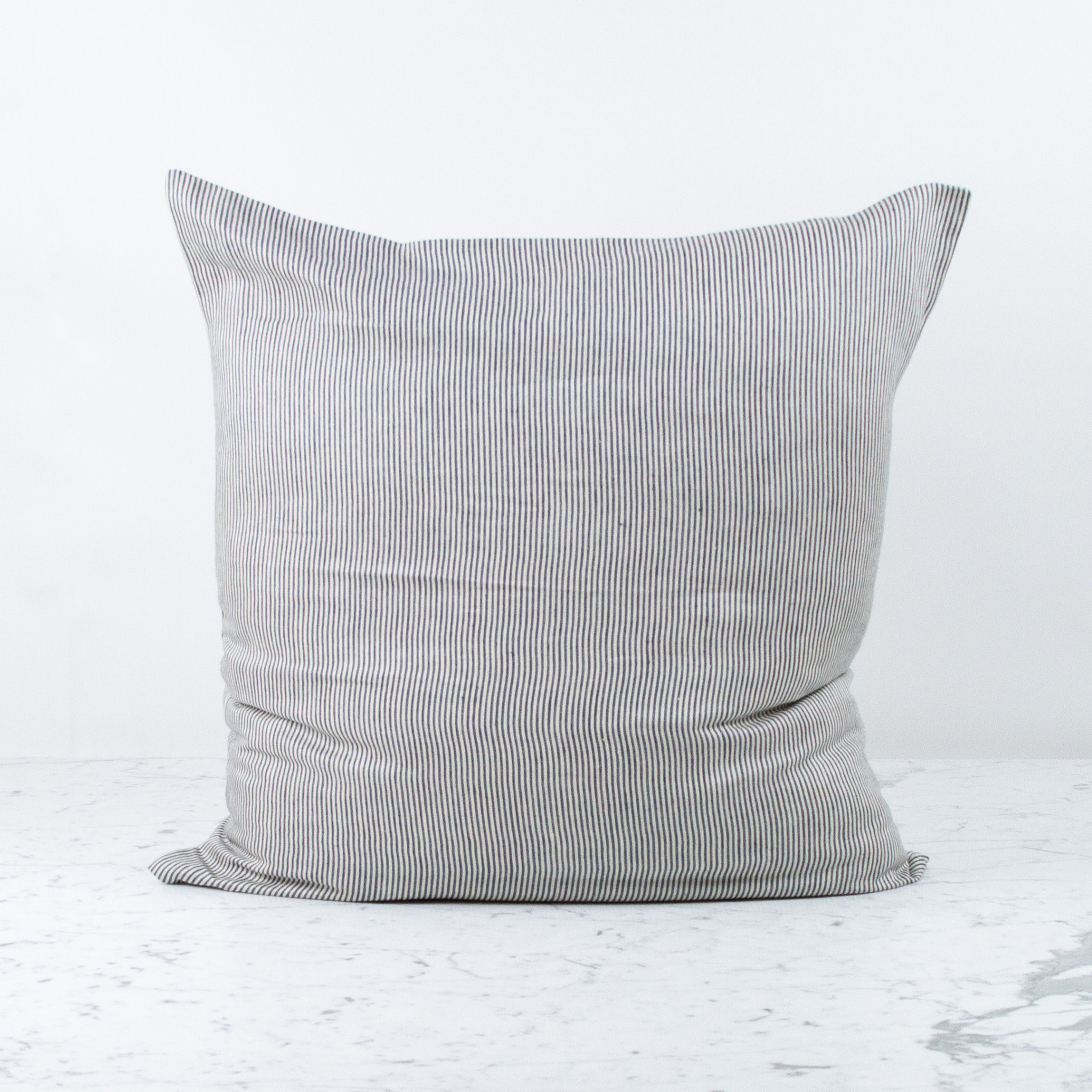 """Libeco Home Belgian Linen Pillow with Down Insert - The Workshop Stripe - 26"""""""