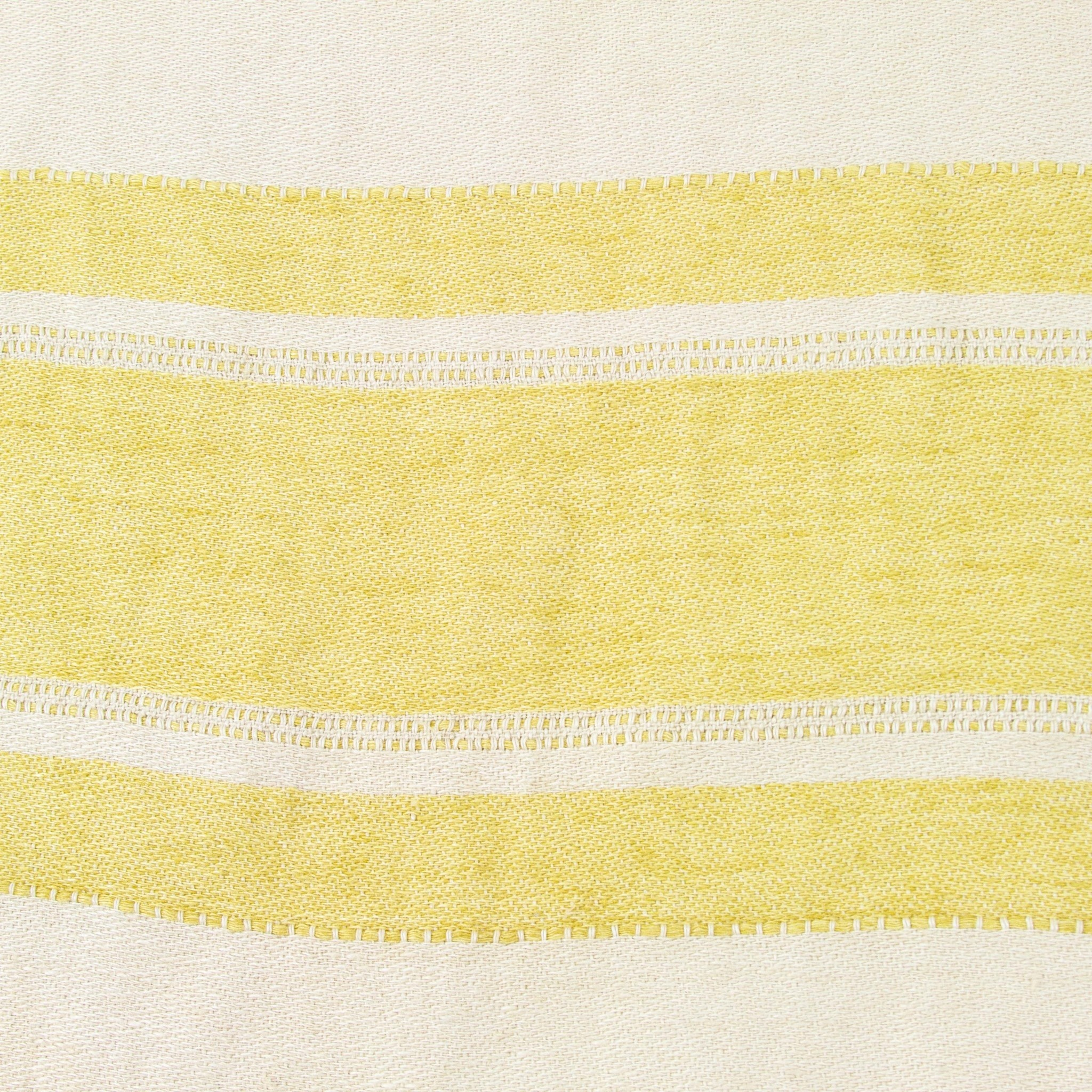 "Libeco Home Belgian Linen Pillow with Down Insert - Mustard Stripe - 20"""