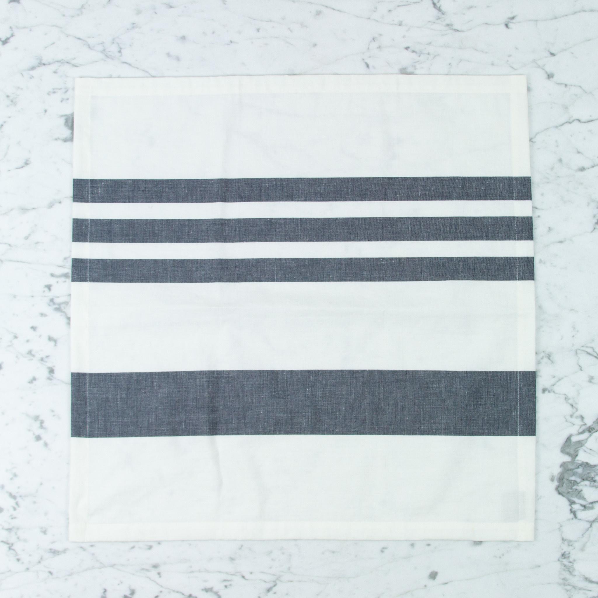 "Libeco Home Belgian Linen + Cotton Napkin -  Falls Gap Stripe - 21"""