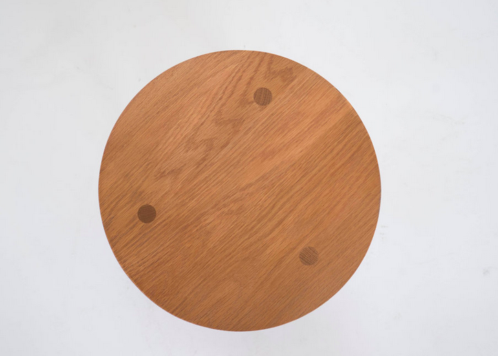 """Sun at Six PREORDER Round Yucca Stand - Solid White Oak - Sienna - 12""""W x 12""""D x 5""""H"""
