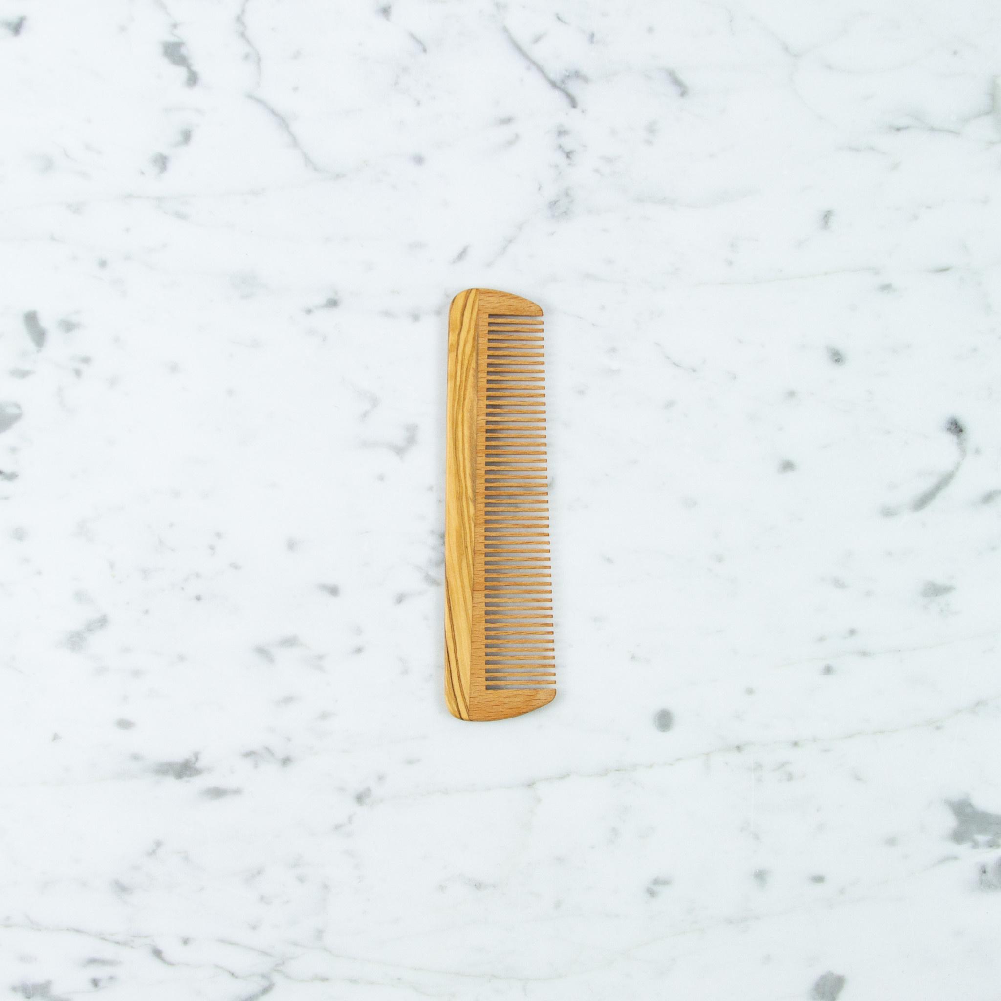Long Beech + Olivewood Pocket Comb