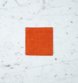 Lithuanian Linen Coaster - Orange