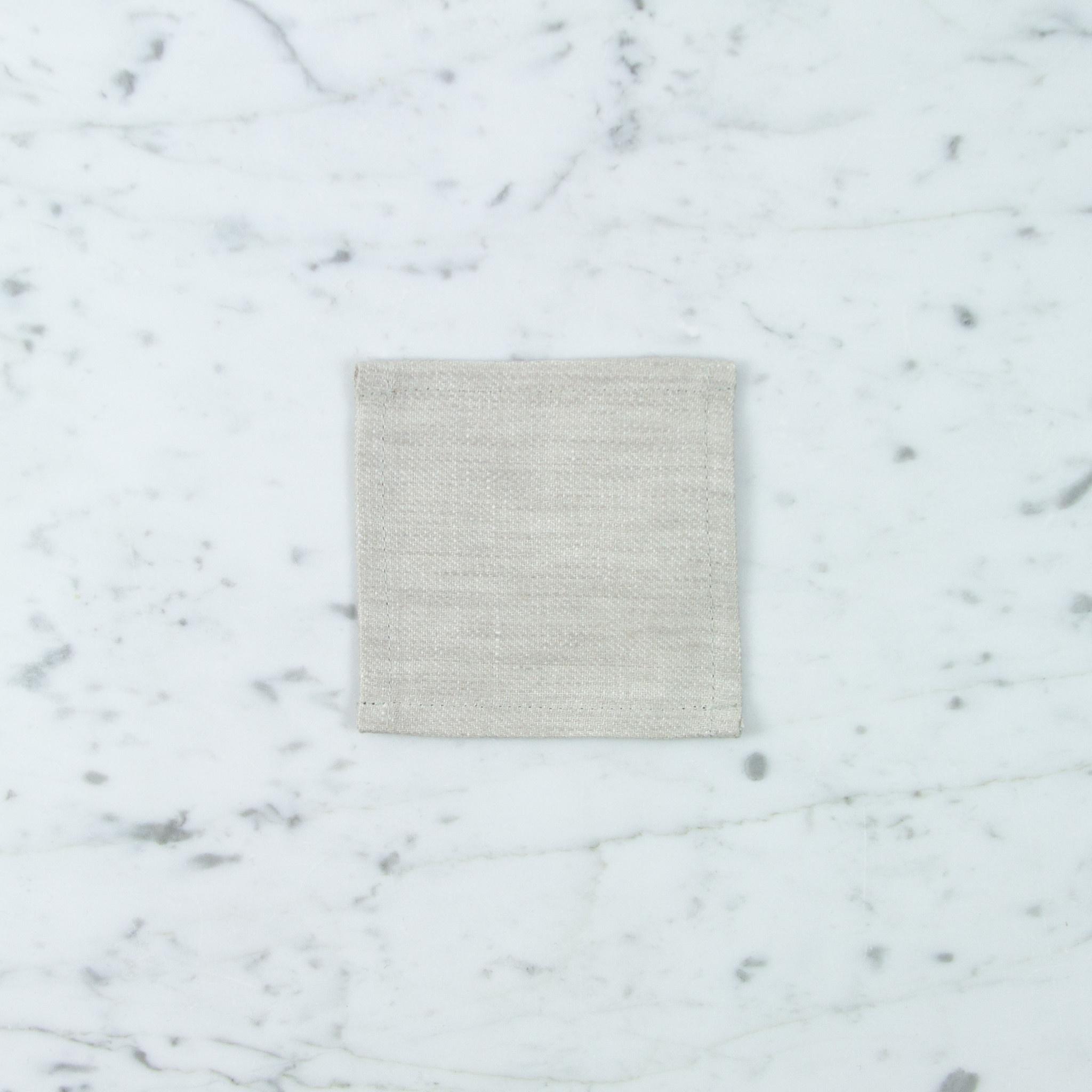 Lithuanian Linen Coaster - Denim White