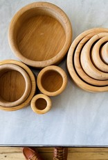 """Grimm's Toys Set of 5 Stacking Wooden Bowls - Natural - 1 1/4"""" x 4"""""""