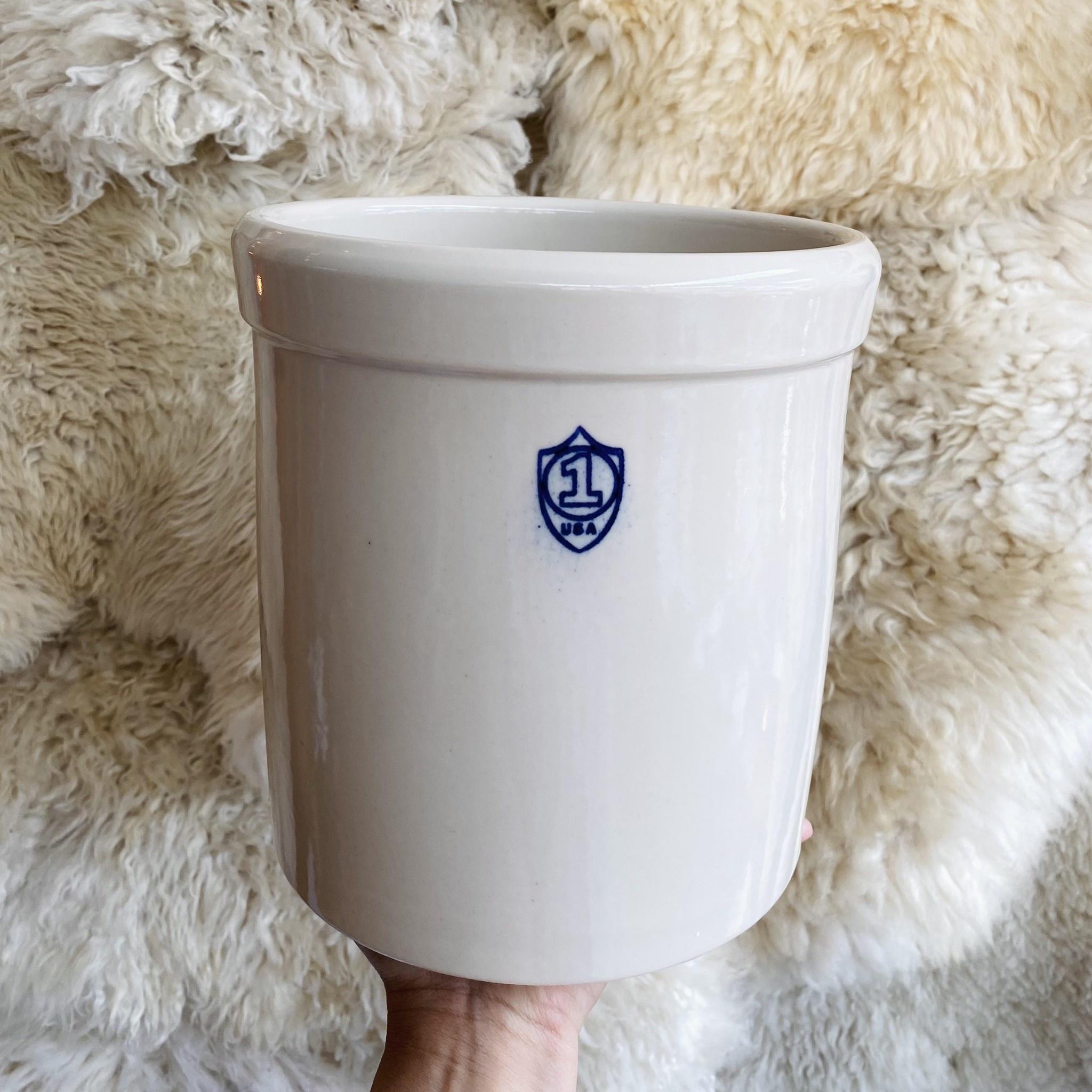 Bristol Stoneware Pickling Crock - Cream - 1 Gal