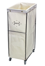 Steele Canvas Rolling Canvas Laundry Hamper with Removable Bag