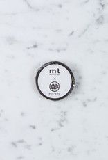 Washi Tape Single: Black with White Numbers