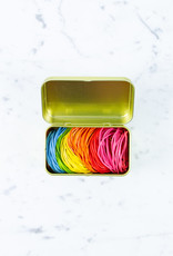 Kyowa O'Band Rubber Bands - Gold Tin with 8-color Mix