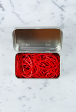 Kyowa O'Band Rubber Bands - Silver Tin with Red Bands