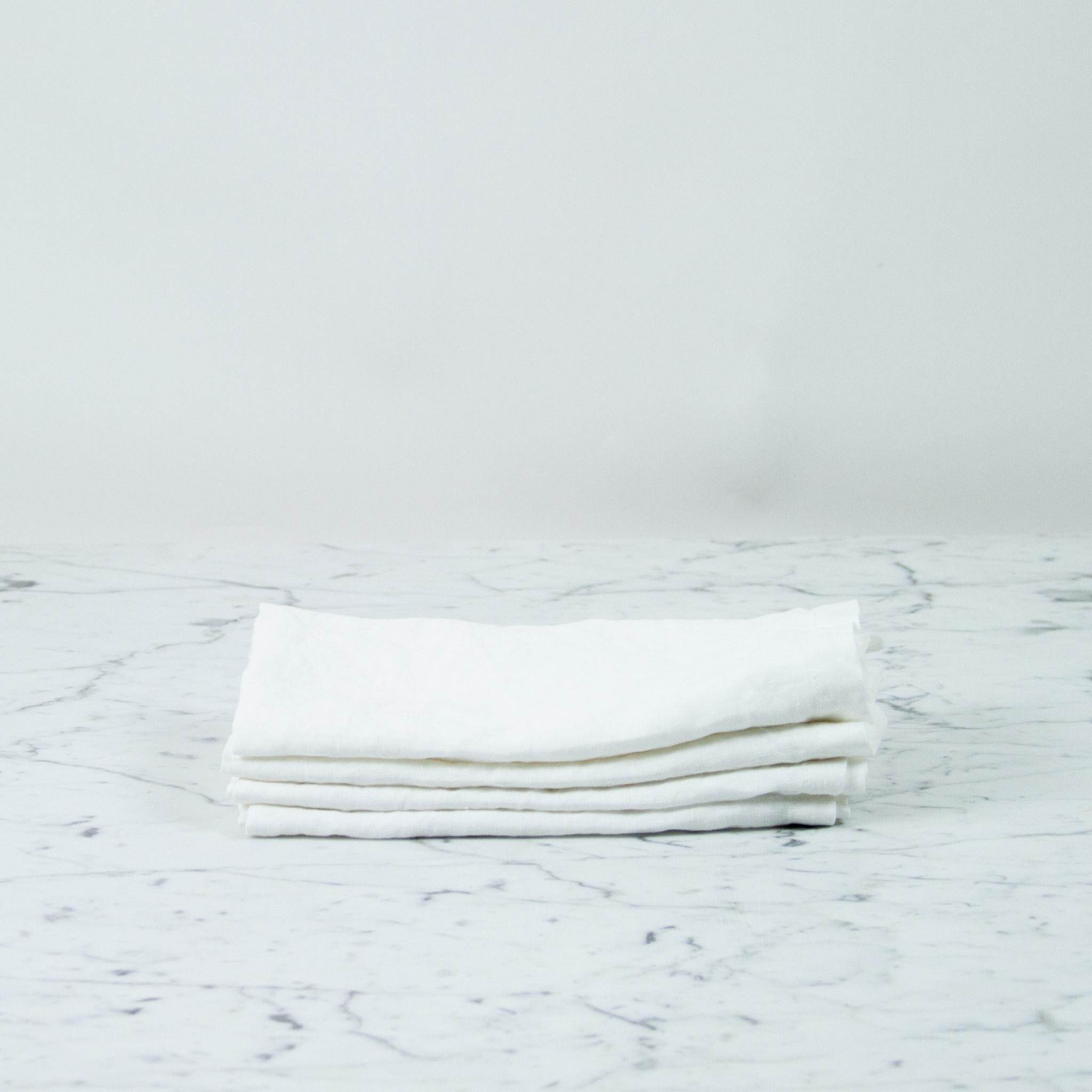 Linen Napkins - Set of 4 - White