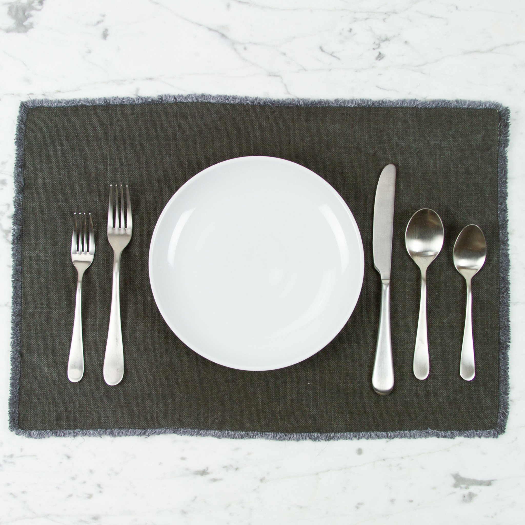 Libeco Home Belgian Thick Linen Pacific Placemat - Militaire Grey