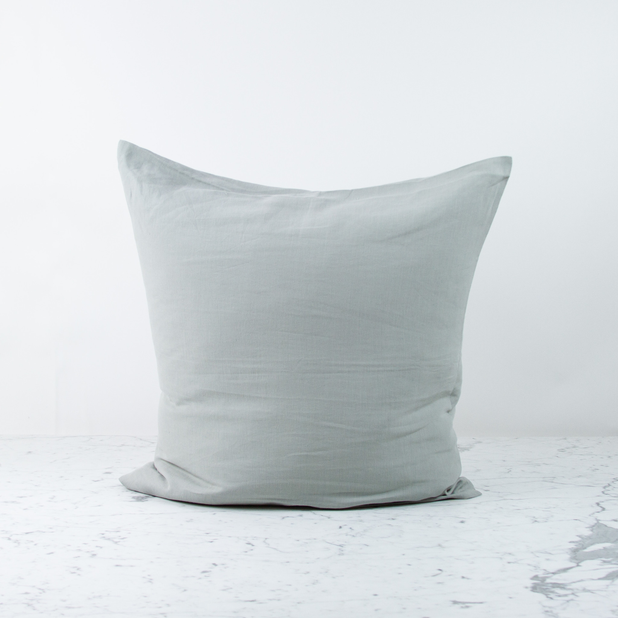 """Libeco Home 25"""" Heritage Belgian Organic Linen Pillow COVER ONLY - Ash"""