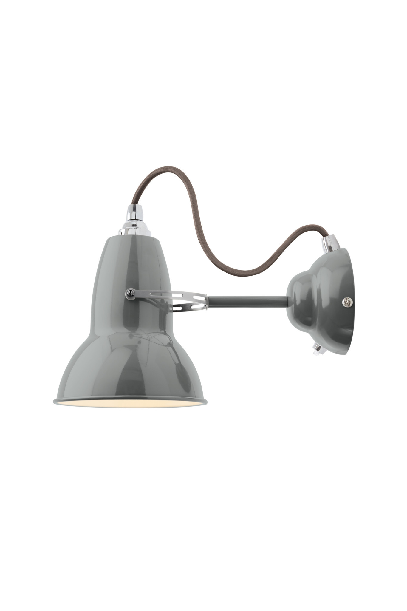 Anglepoise PREORDER Original 1227 Wall Light Sconce - Dove Grey with Chrome