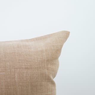 """Libeco Home 25"""" Ile de Re Belgian Brushed Linen Pillow with Down Insert - Apricot"""