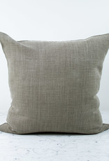 """Libeco Home 25"""" Ile de Re Belgian Brushed Linen Pillow with Down Insert - Taupe"""