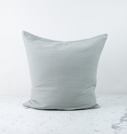 """Libeco Home 25"""" Heritage Belgian Organic Linen Pillow with Down Insert - Ash"""