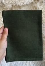 "Libeco Home Belgian Linen Napkin - Napoli Vintage - Olive - 22"""