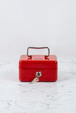 "Italian Steel Money Box with Slot - Red - 6"""