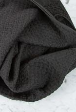 Japanese Lattice Waffle Bath Towel - Cotton + Linen - Charcoal