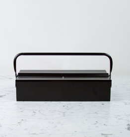 Italian Single Layer Steel Tool Box - Black