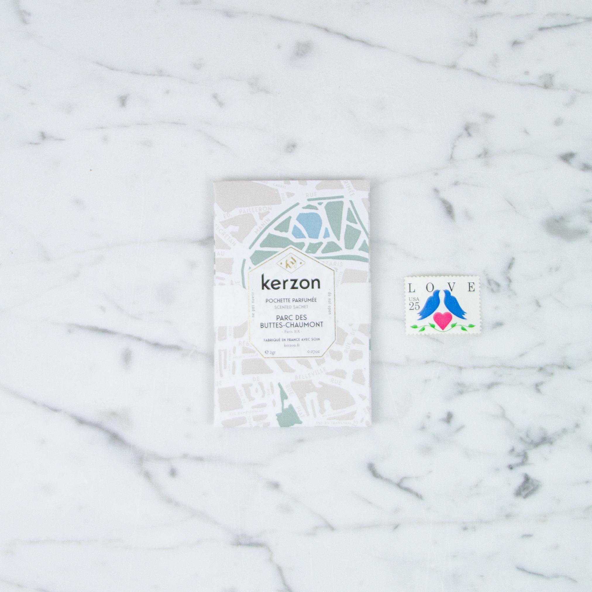 Kerzon Scented Sachet - Parc des Buttes-Chaumont - Set of 2
