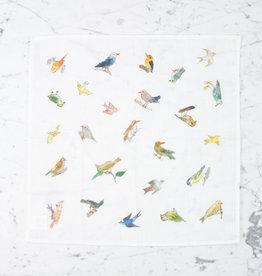 Linen Handkerchief - Isabelle Boinot Birds Illustration