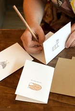 Lettered West Letterpress Little Fox Card