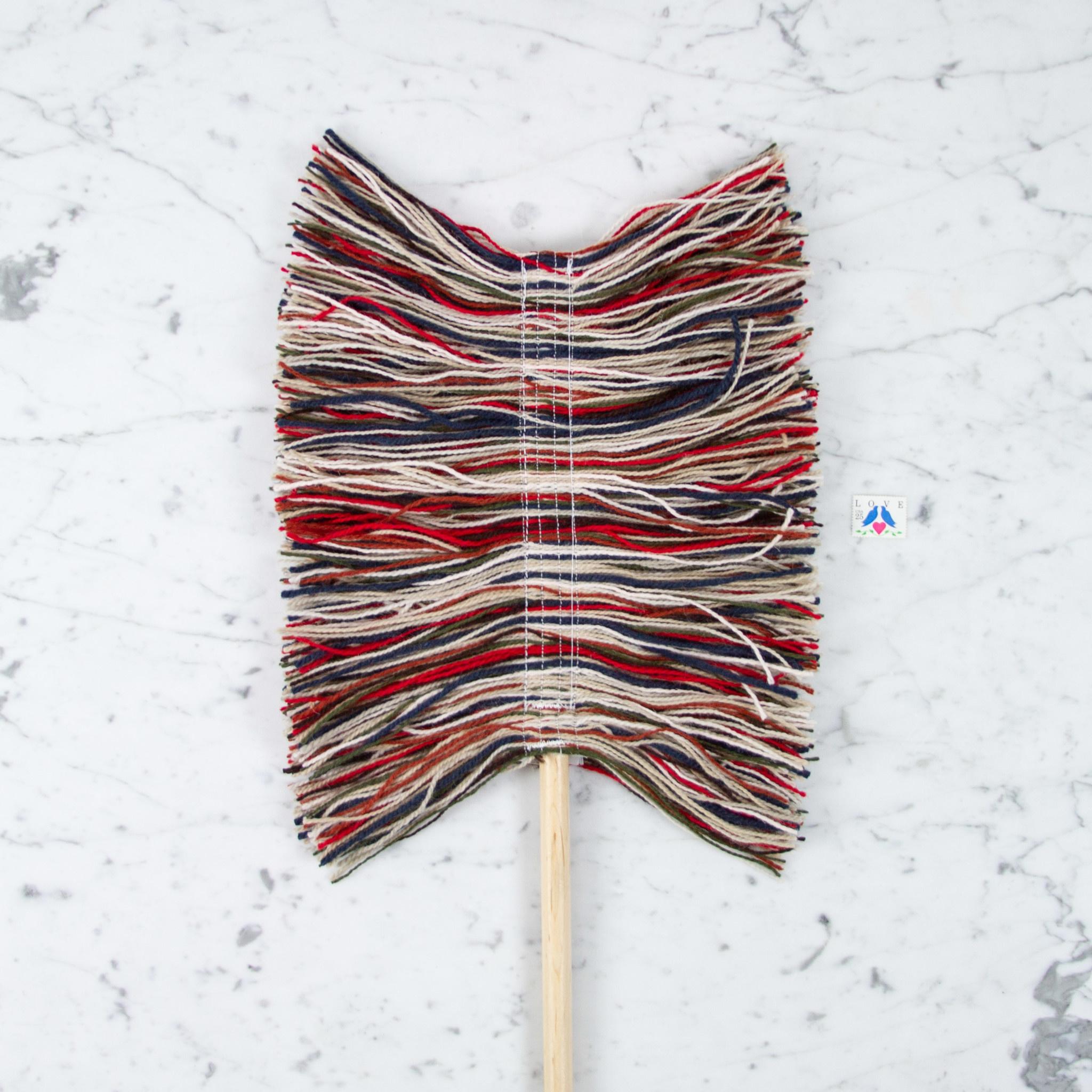 Sladust Mops Wool Hand Duster with Wooden Handle