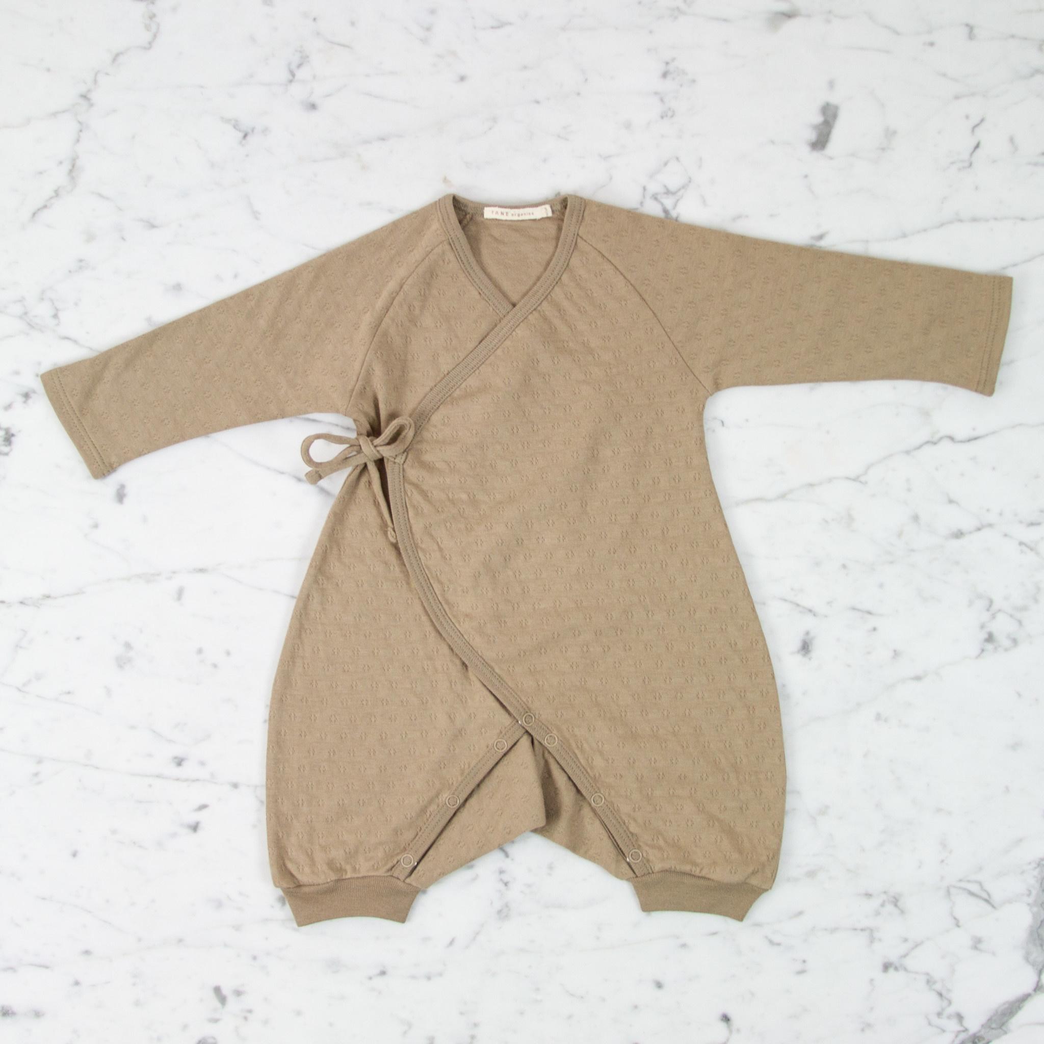Tane Organics Kimono Onesie with Leggings - Root - 6-9 Month