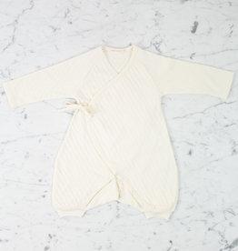 Tane Organics Kimono Onesie with Leggings - Ecru - 6-9 Month