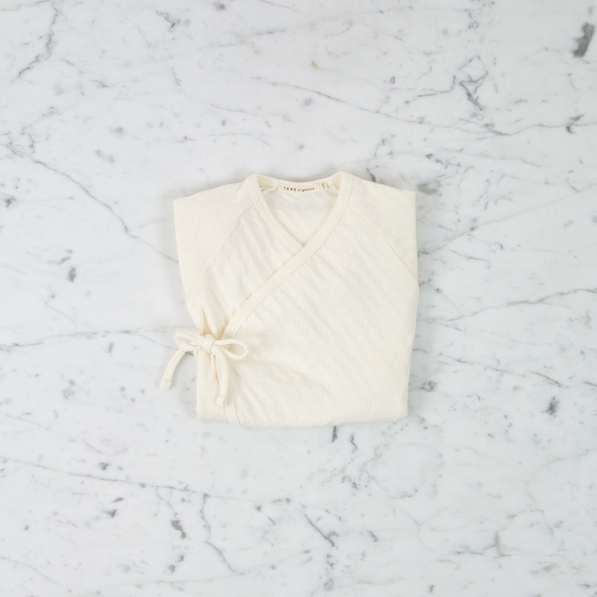 Tane Organics Kimono Onesie with Leggings - Ecru - 0-3 Month