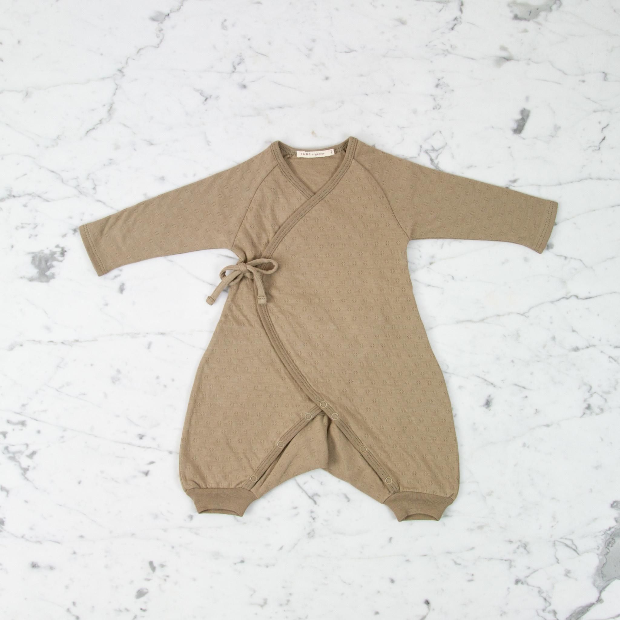 Tane Organics Kimono Onesie with Leggings - Root - 0-3 Month
