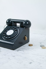 kiko + gg Rotary Telephone Toy - Black with Coin Purse