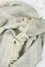 "Harlow Henry Alpaca + Merino Wool Cloud Throw - Stripes -  57 x 78"""