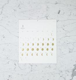Lunar Moon Cycle Calendar - 2022 - Gold