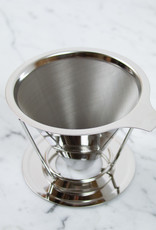 Stainless Steel Pour Over Coffee Filter Cone with Stand