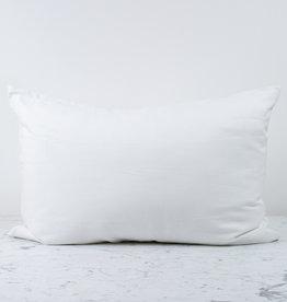 Standard or Queen - White - Linen + Silk Flip Pillowcase
