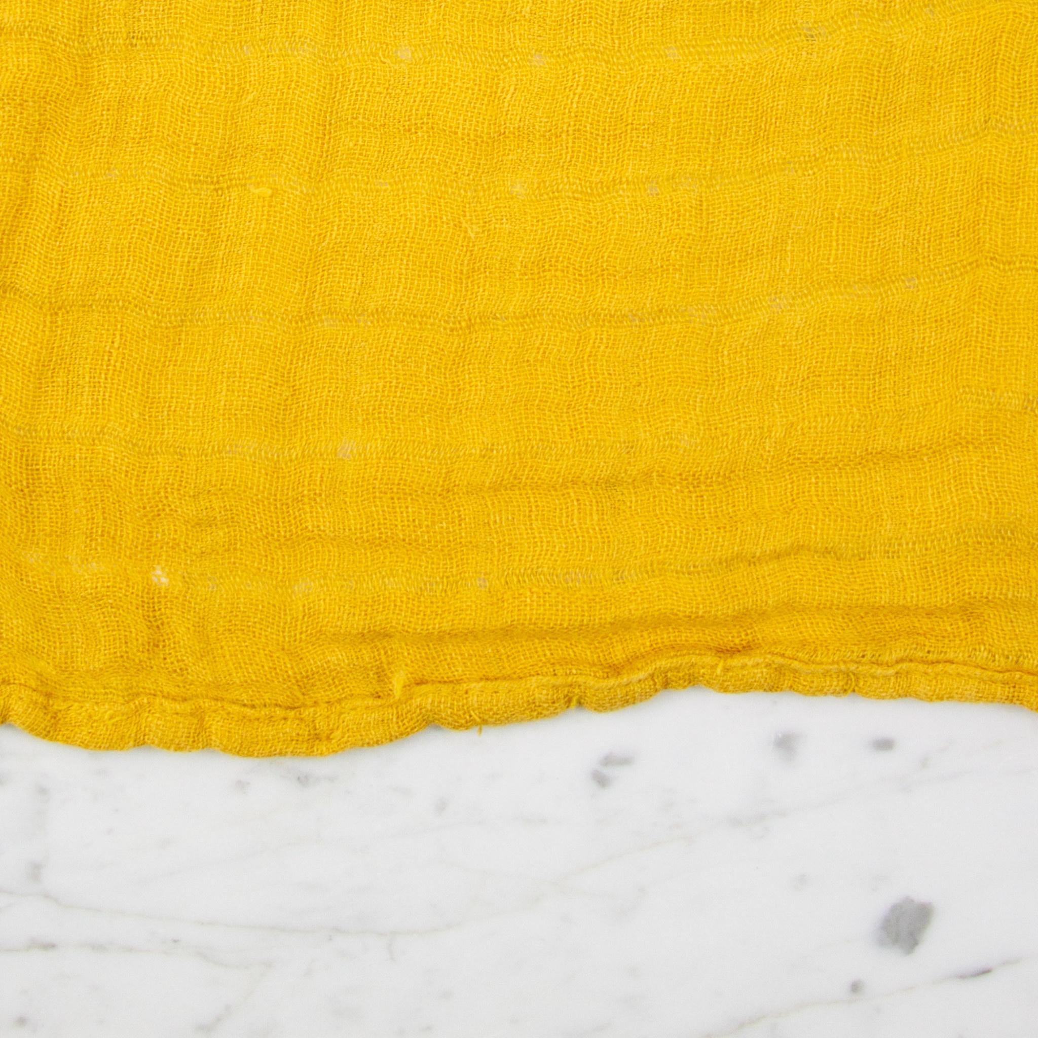 Washed French Linen Gauze Scarf - Honey