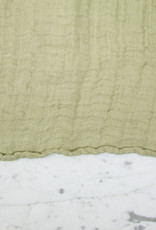 Washed French Linen Gauze Scarf - Fennel
