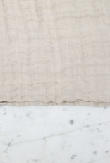 Washed French Linen Gauze Scarf Cloud Grey