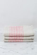 Flax Line Washcloth - Pink + Beige