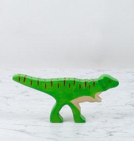 Holztiger Bright Green Allosaurus Dinosaur