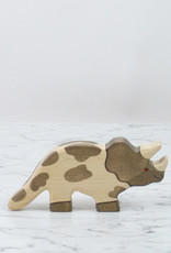 Holztiger Grey + White Spotted Triceratops Dinosaur