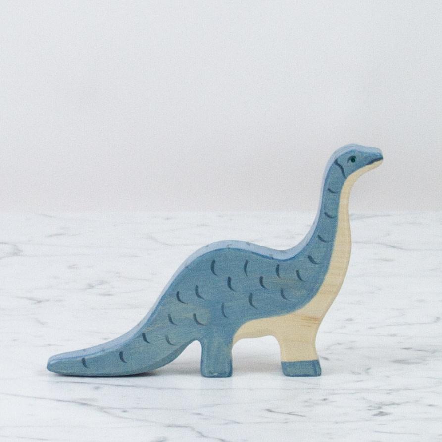 Holztiger Gentle Blue Brontosaurus Dinosaur