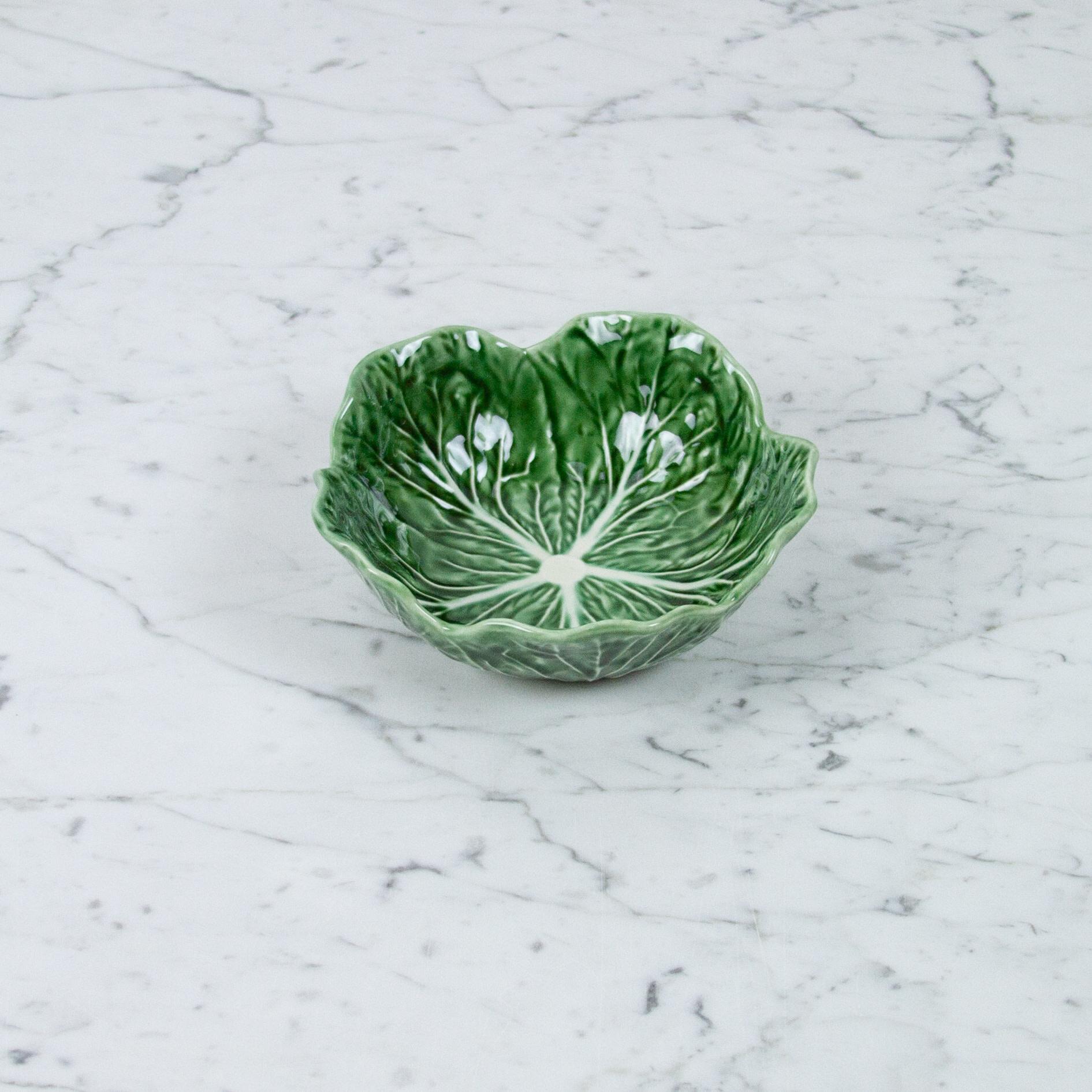 """Bordallo Pinheiro Bordallo Pinheiro Nesting Cabbage Bowl - Green - 8"""""""