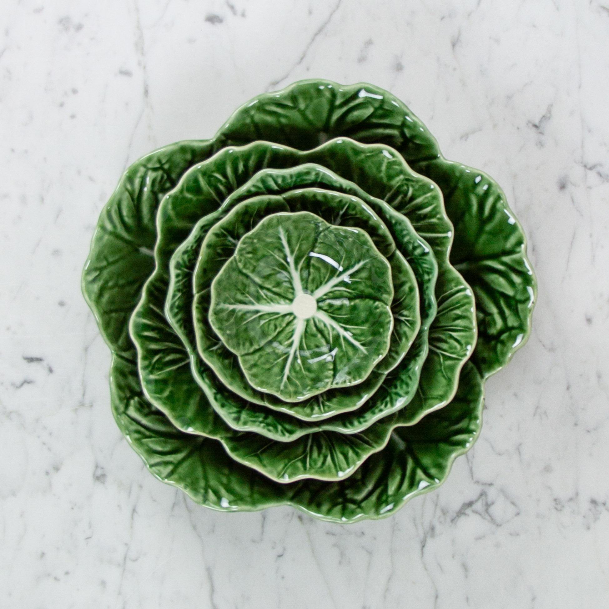 """Bordallo Pinheiro Bordallo Pinheiro Nesting Cabbage Bowl - Green - 7"""""""