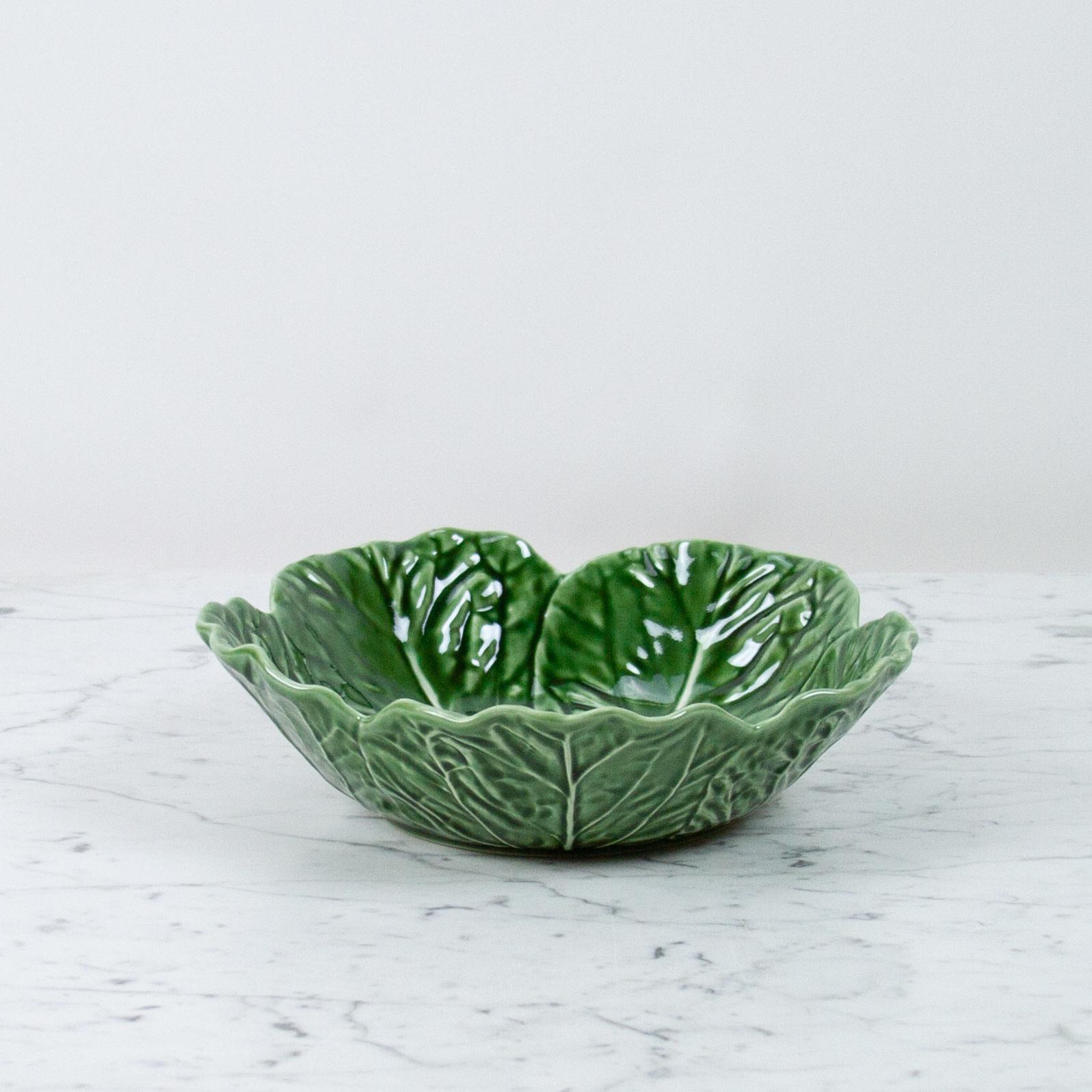 """Bordallo Pinheiro Bordallo Pinheiro Cabbage Serving Bowl - Green  -12"""""""